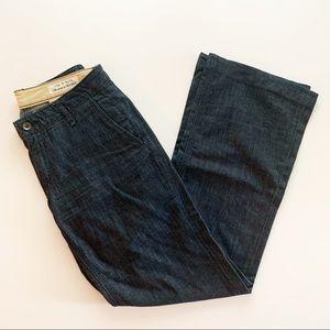 rag & bone | Wide Leg Cotton Silk Blend Jeans